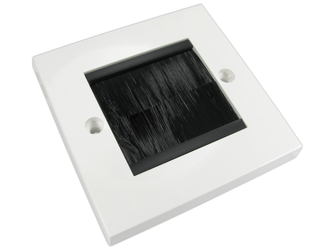 1 Gang Brush Wall Plate with Black Brush