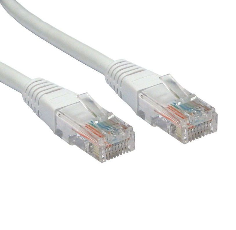 15m ethernet network cable rj45 plugs 5e white. Black Bedroom Furniture Sets. Home Design Ideas