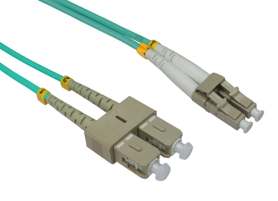 Fibre Optic Network Cables Lc To Sc Connectors Om3 Patch