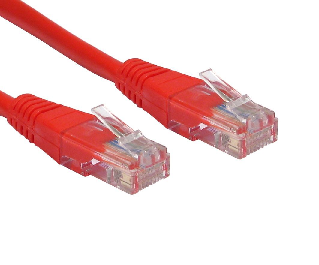 3m cat5e network cable rj45 plugs cat5e red cables4all. Black Bedroom Furniture Sets. Home Design Ideas