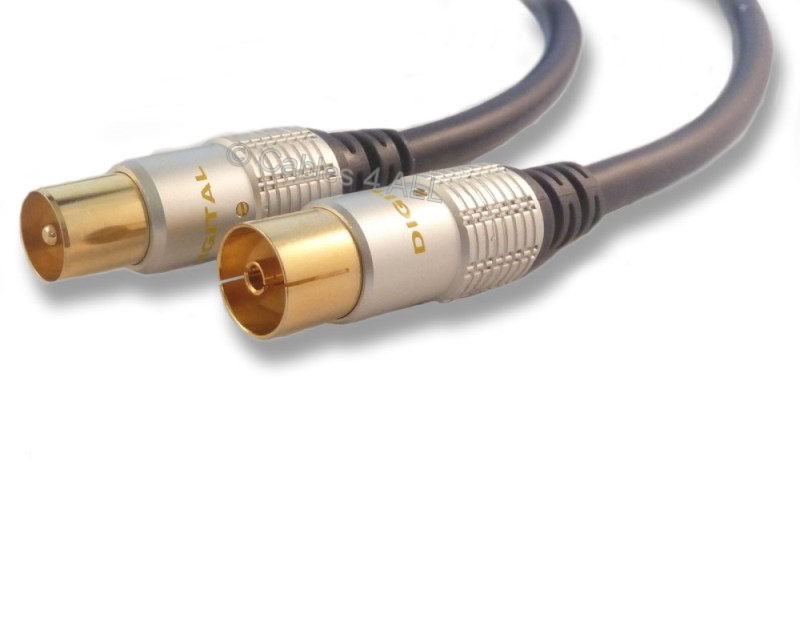 5m TV Aerial Lead - Male to Female Coaxial Cable