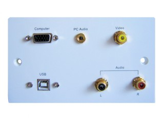 Computer Connection Wall Plate With Usb