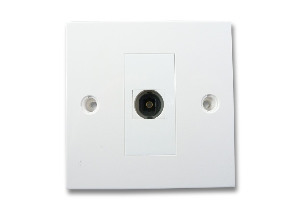 Cable Wall Plate : Digital optical cable av wall plate toslink