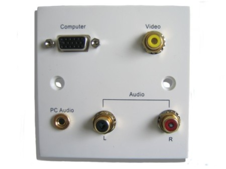 multi connection av wall plate  3.5mm wall jack wiring #14