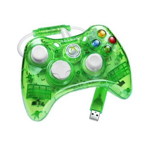 Rock Candy Green Xbox 360 Wired Controller Neon Green